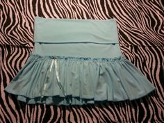 ~Abercrombie & Fitch Junior Womens Light Blue Fold Over Skirt ~ Size XS ~ #AbercrombieFitch #Mini