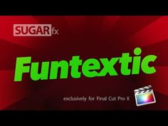 Funtextic Titles for Final Cut Pro X - YouTube