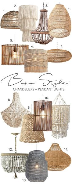 boho bedroom Modern Boho chandeliers & pendants lights - eclectic, textural & interesting to look at. Shop 14 chic + 14 black modern Boho lighting options right here.