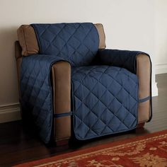Redecorate your living room with ease with this Innovative Textile Solutions microfiber ultimate chair protector. Furniture Covers, Space Furniture, Luxury Furniture, Diy Furniture, Armchair Protectors, Armchair Slipcover, Slipcovers For Chairs, Box Cushion, Home Decor Shops