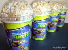 Items similar to Teenage Mutant Ninja Turtles, Birthday Party Popcorn Boxes on Etsy Turtle Birthday Parties, Ninja Turtle Birthday, Ninja Turtle Party, Ninja Turtles, 7th Birthday, Birthday Ideas, Ninja Party, Pirate Party, Snacks Für Party