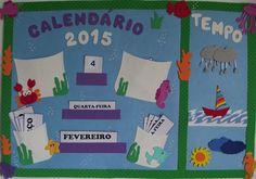 Cartaz 2 em 1 - Calendário e Tempo.
