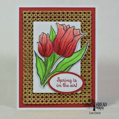 Our Daily Bread Designs Stamp Set: Tulips, Custom Dies: Circle Scalloped Rectangles, Tulip, Ovals, Pierced Ovals, Pierced Rectangle