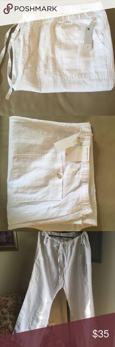 Liz Claiborne Summer white linen pants size 3XL Liz Claiborne Summer white linen pants size 3XL Liz Claiborne Pants Trousers