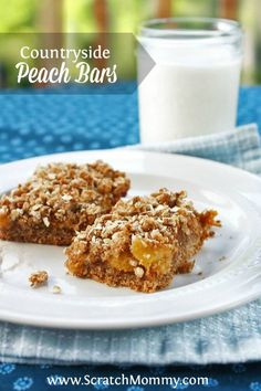 These peach bars wil