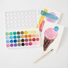 We're not sure what's best about this set: The fact that it features 36 different watercolors, the fact that it includes a fine tipped brush, or the fact that the paint is washable.  Why don't you pick one up and find out for yourself?Details, details 36 Watercolors Fine Tipped Brush Included Reusable Case WashableShow 'em what you're made of Non-toxic  watercolor paintAge range 3 and up.