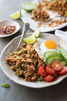 A traditional recipe for Nasi Goreng, Indonesian / Bali fried rice. Easy and fast to make, and no hunting down unusual ingredients!