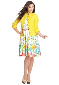 Plus Size Floral Sundress under Blend Blazer | Plus Size Summer Looks | Jessica London