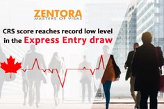 CRS score reaches record low level in the Express Entry draw