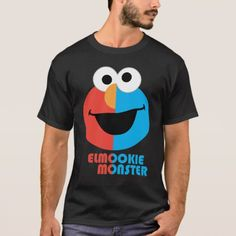 Elmo and Cookie Half Face T-Shirt - tap to personalize and get yours