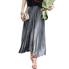 New Winter Autumn High Waist Skirt Women Casual 2018 Summer Big Hemline Pleated Skirts Female Empire Bohemian Long Party Skirts -in Skirts from Women's Clothing & Accessories on Aliexpress.com | Alibaba Group