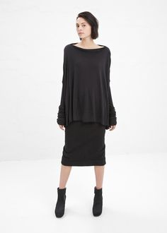 mid-calf boots (heeled?)   Rick Owens Lilies Black Square Top $500