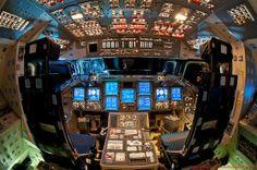 These rare photos captures the Flight Deck (cockpit) of the Space Shuttle Endeavour, Atlantis a