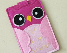 Custom Size Felt Owl iPhone Case Cell Phone Sleeve by ohmycake
