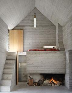 Buchner Bründler Architekten - Casa d'Estate, Linescio 2011. Winner of the Swiss Concrete award for 2013. Via, photos (C) Ruedi Walti.
