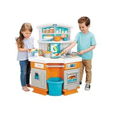 Little Tikes Home Grown Kitchen - Realistic Kitchen Real Cooking & Water Boiling Sounds is a toy our 6 year old girl loves to play with. These are super popular toys!