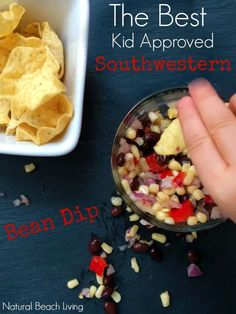 The Best easy, great tasting, kid approved southwestern bean dip, cooking with kids, family recipe, practical life skills, Amazing Snack for everyone!
