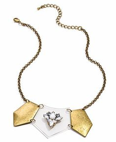 American Rag Necklace, Gold-Tone Lucite Statement Necklace