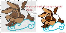 Baby Wile E. coyote Looney Tunes on the cloud cross stitch patterns free - 3140x1556 - 1696023