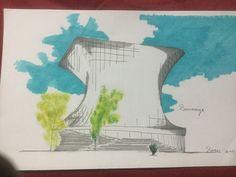#sketch #croquis del museo #soumaya en la ciudadana de #México