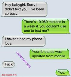 Hilarious Text About Boyfriend vs. Facebook ft. Ex
