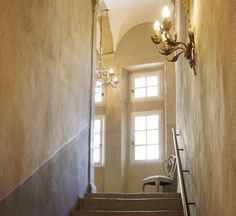 Stair way to a perfect French bedroom!