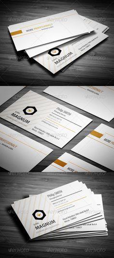 Orange Line Business Card