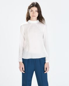 Image 1 of HIGH-NECK BLOUSE from Zara