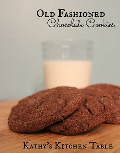 Old Fashioned Chocolate Cookies | Kathy's Kitchen Table