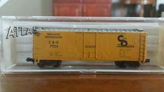 Atlas N-scale 40' box train car C&O #3306 #Atlas