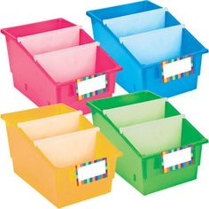Chapter Book Library Bins™ With Dividers - Primary Library Organization, Organization And Management, Library Ideas, School Classroom, Classroom Decor, Book Dividers, Teacher Wish List, Class Library, Community Library