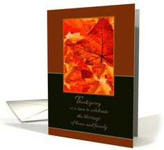 Thanksgiving Blessings of Home and Family ~ Colors of Autumn/Fall card