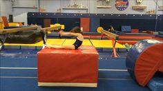 Back handspring circuit- Poor coaching, but good stations Gymnastics Lessons, Gymnastics Levels, Gymnastics Academy, Gymnastics Floor, Gymnastics Flexibility, Gymnastics Coaching, Gymnastics Training, Gymnastics Videos, Gymnastics Workout