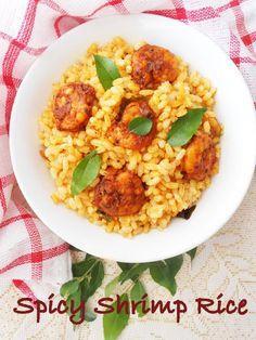 Shrimp Rice/Chemmeen Chooru....with Kerala matta brown rice. ███ Full Recipe→ http://www.vivianhealthyrecipes.com/2006/01/shrimp-ricechemmeen-chooruwith-kerala.html