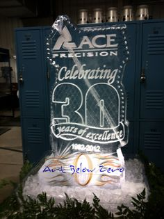 Ace Precision beverage luge ice sculpture