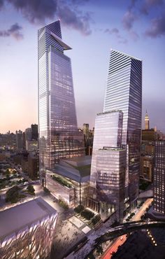 10 and 30 Hudson Yards - The 28-acre Hudson Yards, developed by Related Companies and Oxford Properties Group, will include more than 17 million square feet of commercial and residential space, more than 100 shops and restaurants, approximately 5,000 residences, a unique cultural space, 14 acres of public open space, a 750-seat public school and a 175-room luxury hotel—all offering unparalleled amenities for residents, employees and guests.