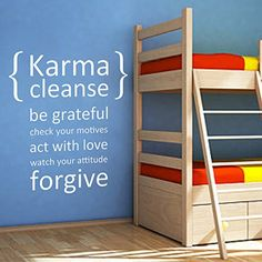 MairGwall Karma Cleanse Be Grateful  Words  Letters Wall Stickers Vinyl Wall Decals Wall Quotes For Couples Bedroom White Small *** Click image for more details. Note: It's an affiliate link to Amazon