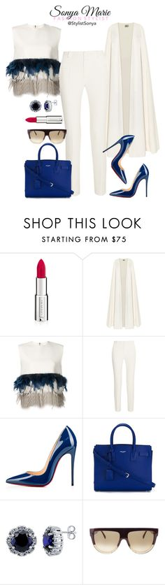 """Untitled #194"" by stylistsonyamarie on Polyvore featuring Givenchy, La Mania, Dsquared2, Roland Mouret, Christian Louboutin, Yves Saint Laurent, BERRICLE and CÉLINE"