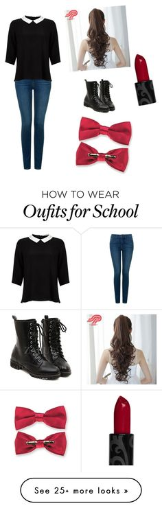 """School"" by cgmanning on Polyvore featuring NYDJ, Lipsy and Pin Show"