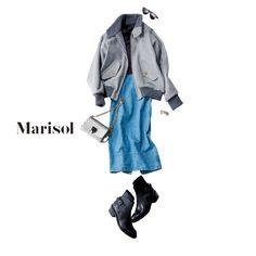 """今年の書き初めは""""不撓不屈""""。辛口小物を味方に何事にもくじけない!【2018/1/2コーデ】Marisol ONLINE 女っぷり上々!40代をもっとキレイに。"""