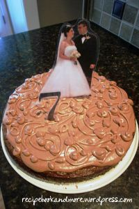 personalize any cake with laminated photos or numbers - DIY for birthdays, anniversaries, or graduation