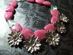 Araminta  Hot pink and Mint quartz