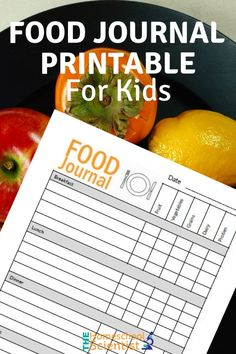 food journal printable for kids - health and nutrition