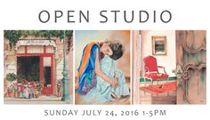 Open Studio at Pomm's Studio in Pasadena on Sunday, July 24, 2016. 1 pm to 5 pm. See website for more details!