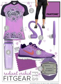 Radiant Orchid Pantone color of the year Fit Gear | fridaylovesong.net