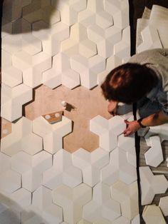 Harcourt London: geometric leather tile