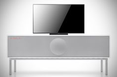 the new Geneva Sound System Model XXL now features Apple's Airplay and Bluetooth for wireless audio streaming, plus it is DLNA capable, making it an all-rounder TV console/speaker system