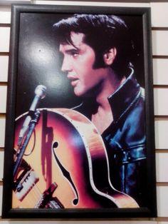 Dona Chefa quadro luminoso do rei do rock Elvis decoração