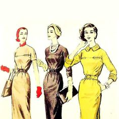 Hey, I found this really awesome Etsy listing at https://www.etsy.com/listing/126998302/vintage-1950s-dress-pattern-bust-32-size
