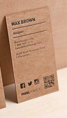 Kraft Business Cards - Set of 50 - Kraft - Single-sided-card - Modern business card - Kraft business card - Brown business card - Rustic Minimalist Business Cards, Modern Business Cards, Business Casual, Vintage Business Cards, Best Business Cards, Creative Business Cards, Square Business Cards, Black Business Card, Kraft Packaging